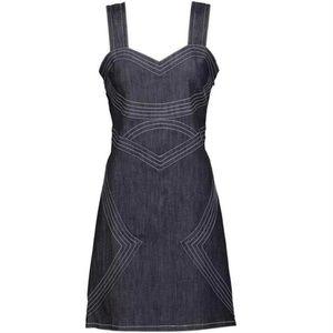Derek Lam Indigo Crosby Denim Short Casual Dress